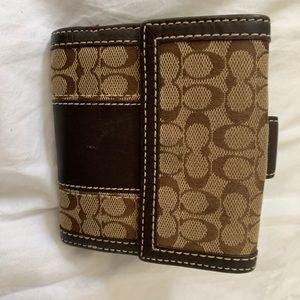 COACH LEATHER CANVAS WALLET